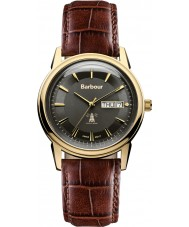 Barbour BB036GDBR Mens Gosforth Brown Leather Strap Watch