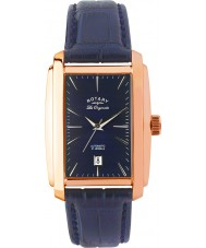 Rotary LE90014-05 Mens Les Originales Rose Gold Blue Automatic Watch