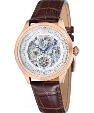 Thomas Earnshaw ES-8039-04 Mens Academy Brown Croco Leather Strap Watch