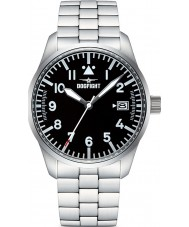 Dogfight DF0053 Mens Wingman Silver Steel Bracelet Watch