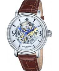 Thomas Earnshaw ES-8011-01 Mens Longcase Brown Croco Leather Strap Watch