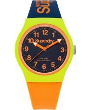 Superdry SYG164MU Urban Navy Orange Silicone Strap Watch