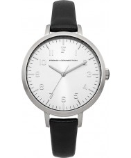 French Connection FC1248B Ladies Black Leather Strap Watch