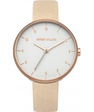 Karen Millen KM135CRG Ladies Nude Leather Strap Watch