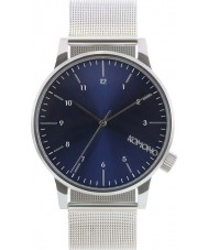 Komono KOM-W2353 Winston Royale Blue Silver Watch