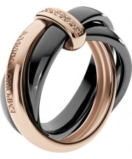 Emporio Armani Ladies Architectural Two Tone Ring