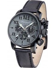 Ingersoll IN1224BKGY Mens Colby Black Leather Strap Watch