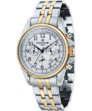 Thomas Earnshaw ES-8028-44 Mens Commodore Two Tone Steel Chronograph Watch