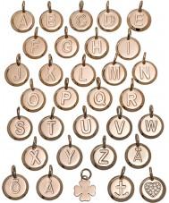 Edblad 116130235-V Charmentity V Rose Gold Plated Small Pendant