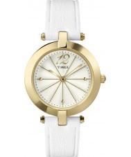 Timex Originals T2P542 Ladies Classic White Leather Strap Watch