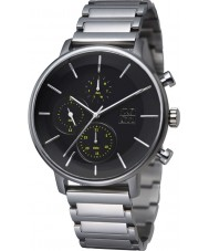 Zoom ZM-7138M-1502 Mens Lens Black Silver Watch