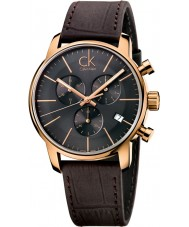 Calvin Klein K2G276G3 Mens City Grey Brown Chronograph Watch