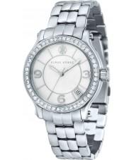 Klaus Kobec KK-10019-22 Ladies Venes Silver Tone Steel Watch with Crystal Bezel