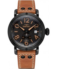 Dogfight DF0023 Mens Ace Brown Leather Strap Watch