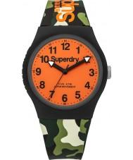 Superdry SYG164NO Urban Green Camo Silicone Strap Watch