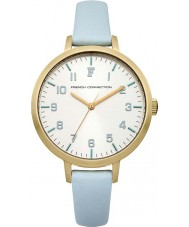 French Connection FC1248M Ladies Blue Leather Strap Watch