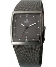 Obaku V102GDTJMJ Mens Grey IP Titanium Mesh Bracelet Watch