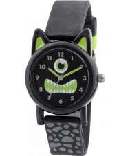 Tikkers TK0097 Boys Black Silicone Monster Watch