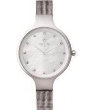 Obaku V173LXCIMC Ladies Silver Steel Mesh Bracelet Watch