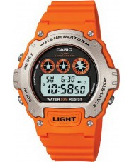 Casio W-214H-4AVEF Collection Illuminator Orange Chronograph Watch