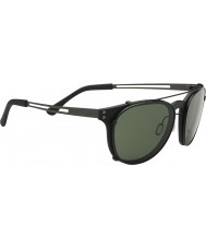 Serengeti Palmiro Satin Black Polarized PhD 555nm Sunglasses