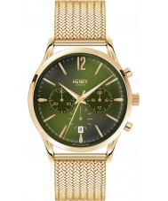 Henry London HL41-CM-0108 Mens Chiswick Moss Green Hamilton Gold Chronograph Watch