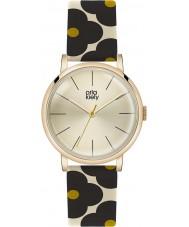 Orla Kiely OK2074 Ladies Patricia Black Flowery Leather Strap Watch