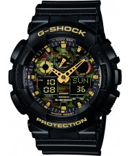 Casio GA-100CF-1A9ER Mens G-Shock Black Chronograph Watch