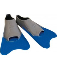 Zoggs 300395 Ultra Blue and Grey Training Fins - UK Size 12
