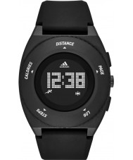 Adidas Performance ADP3198 Mens Sprung Black Matte Silicone Strap Watch