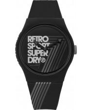 Superdry SYG181B Urban Retro Black Silicone Strap Watch