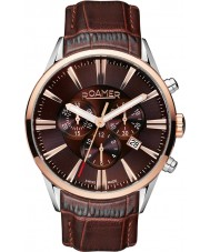 Roamer 508837-41-65-05 Mens Superior Brown Leather Chronograph Watch