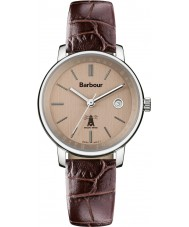 Watches Barbour Ladies Holywell Brown Leather Strap Watch