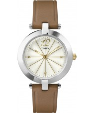 Timex Originals T2P543 Ladies Classic Brown Leather Strap Watch