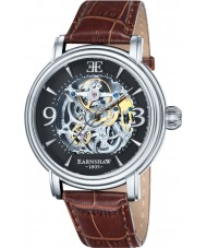 Thomas Earnshaw ES-8011-02 Mens Longcase Brown Croco Leather Strap Watch