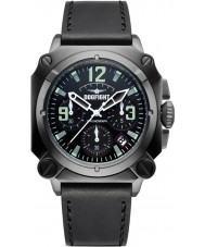 Dogfight DF0006 Mens Experten Black Leather Chronograph Watch