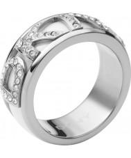 DKNY Ladies Logo Silver Ring