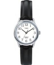 Timex T20441 Ladies Silver Black Easy Reader Watch