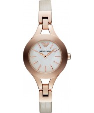 Emporio Armani AR7354 Ladies Cream and Rose Gold Dress Watch