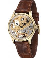 Thomas Earnshaw ES-8049-02 Mens Bauer Brown Mechanical Skeleton Watch