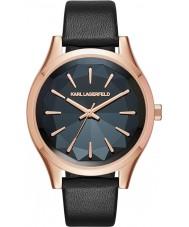 Karl Lagerfeld KL1625 Ladies Belleville Black Leather Strap Watch