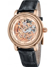 Thomas Earnshaw ES-8040-03 Mens Longcase 43mm Black Leather Strap  Watch