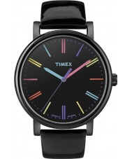Timex Originals T2N790 Ladies Black Multicolor Classic Round Watch