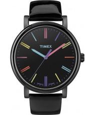 Timex Originals T2N790 Ladies Black Multicolor Classic Round Watch