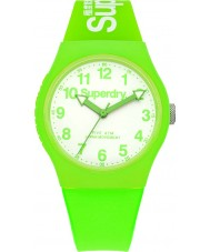 Superdry SYG164NW Urban Neon Green Silicone Strap Watch