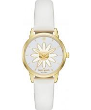 Kate Spade New York KSW1086 Ladies Metro White Leather Strap Watch