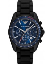Emporio Armani AR6121 Mens Sports Black Mixed Strap Watch