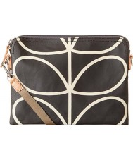 Orla Kiely 0ETCLIN136 Ladies Giant Linear Stem Liquorice Travel Pouch