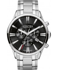 Roamer 508837-41-55-50 Mens Superior Silver Steel Chronograph Watch