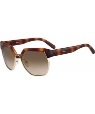 Chloe Ladies CE665S Light Havana Sunglasses